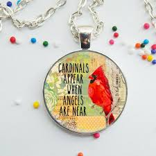details about e cardinal bird necklace glass cabochon pendant necklace silver jewelry gift