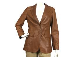 brook brothers very soft leather blazer jacket jackets leather caramel ref 75833