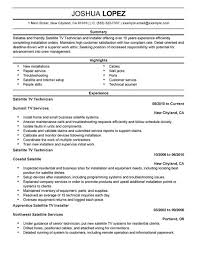 ... Simple Satellite Tv Technician Installer Resume Example Call Center  Representative Resume Sample Create My Resume Create ...