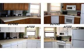 Small Kitchen Makeovers On A Budget Classic Kitchen Remodel Into Modern  Design By Painting The Old Brown Wooden Cabinets Into White A Cheap  Renovation