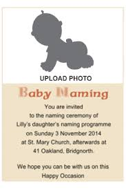 Invitation Of Naming Ceremony Message Magdalene Project Org