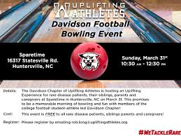 Bowling Event Flyer Davidson Football Bowling Event