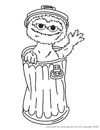 Sesame Street Characters Coloring Pages
