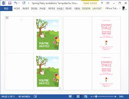 Party Invitation Template Word Free Word Invitation Templates Free Awesome Spring Party