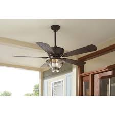 harbor breeze merrimack 52 in antique bronze outdoor downrod or throughout kitchen ceiling fan with