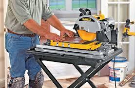 dewalt wet saw. best tile saw feature dewalt wet
