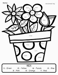 color by number worksheets addition on coloring pages addition