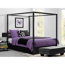 Dorel Modern Canopy Queen Metal Bed Multiple Colors Walmart