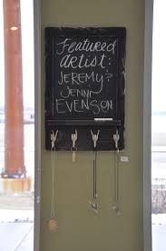 interior: Good Looking Chalkboard Key Holder Placed On Vintage Styled Frame  On Grey Center Wall