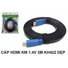 CÁP HDMI KM 1.4V 3M KH422 DẸP Giá chỉ 90.000₫
