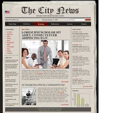 Free Html Newspaper Template Newspaper Templates Bootstrap Website Templates