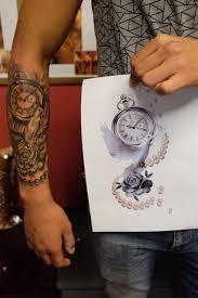 Clock Tattoo Desing Tetovani Pánské Tetování Dámské Tetování E