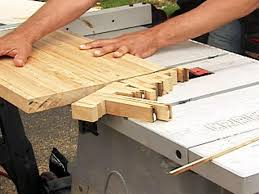 use circular saw to rip one side of butcher block