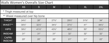 55 Credible Walls Insulated Coveralls Size Chart