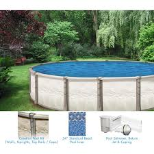 creation 13 x 20 ft oval above ground pool custom package