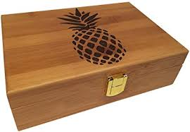 Decorative Wood Boxes With Lids Amazon Pineapple Engraved Wood Stash Box Premium Design 55