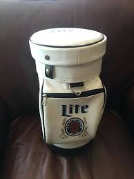 miller lite football wood cooler mini golf bag vintage beer only one left for miller lite cooler