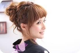 浴衣 髪型 ワンレン Kamigata