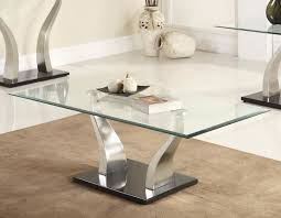 rectangle glass coffee table furniture inspiration ideas simple and neat look the shelf underneath is for