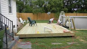 wood patio ideas. Above Ground Pool Deck Ideas On A Budget Trends With Small Outdoor For Swimming Also Wood Patio Images Backyard Pictures S