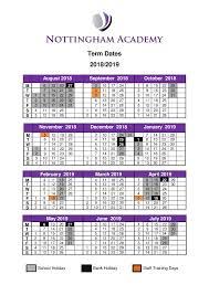 Nottingham Greenwood - Term Dates