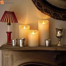 lighting fancy luminara flameless candles for night idea