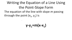 linear equations in point slope form ck 12 foundation