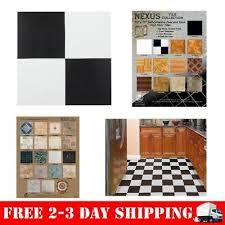 nexus black white 12 x12 self adhesive vinyl floor tile 20 tiles