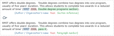 referencing using harvard example