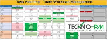 Excel Team Calendar Template Download Plan Monthly Schedule