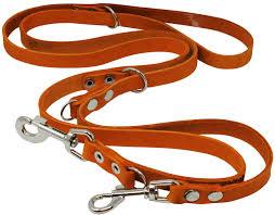 3 4 leather leash 6 tan