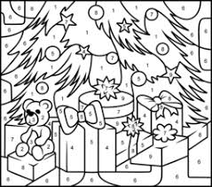 Small Picture Challenging Color by Number Printables Christmas Gifts