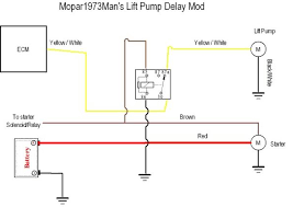 hard start when warm 170ish dodge cummins diesel forum here s a schematic of a relay you need to install in the fass wiring easy to get and easy to install if you ve done any basic automotive wiring before