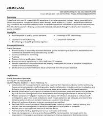 Sample Of Modern Resume For Quality Assurance Specialist Quality Assurance Specialist Resume Sample Livecareer