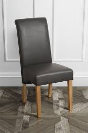 set of 2 amalfi dining chair dark grey faux leather my furniture inside chairs prepare 18