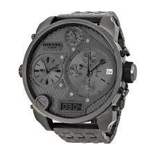 diesel watch men digital new diesel dz7247 sba chronograph analog digital big daddy gray men s watch