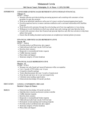 Sales Rep Resume Financial Sales Representative Resume Samples Velvet Jobs 59