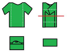 Shirt Folds Reference Clothing How To Pack Dress Shirts Clothes For Travel Lifehacks