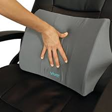 pillow office chair. lumbar support pillow by vive - lower back seat cushion for office chair, car, chair