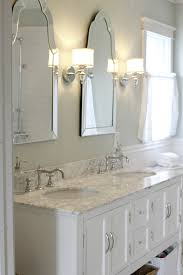 Bathroom Frameless Mirrors Sinks With Venetian Mirrors And Pretty Sconces Master Bath