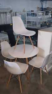 new denmark white round dining table 4 chairs 199 99
