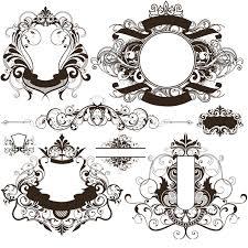 vine ornate frames vector set 3
