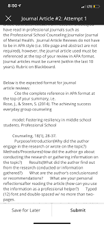 Apa Journal Article Review Format Article Reviewwriting