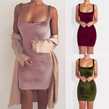 Awesome Awesome Womens Velvet Bodycon Dress