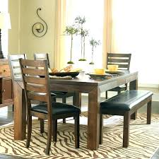 round table with bench seat dining