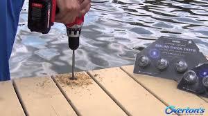 Flush Mount Deck Lights Solar Lake Lite Solar Dock Dot Lights