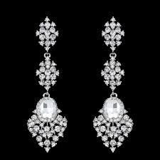 crystal bridal earrings pageant earrings bridal chandelier earrings austrian crystal bridal dangling earrings