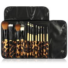 professional makeup brushes 24 piece set black great for highlighting contouring includes free case by beauty bon walmart