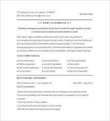 Event Planner Resume Sample - Sample Professional Letter Formats