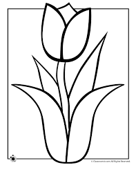 Small Picture Spring Coloring Pages Spring Tulip Coloring Page Classroom Jr